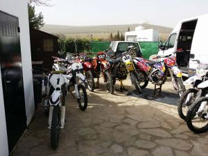 Plenty of bikes to ride during your motocross adventure