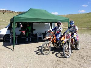 getting ready to a day of great motocross riding