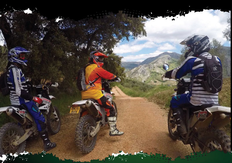 Off-road motorcycle tours in spain